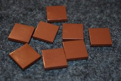 8 1x1 BROWN Smooth Finishing Tile Brick Bricks  ~ Lego  ~ NEW