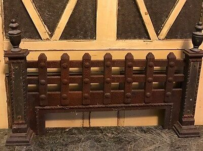 Antique French Iron And Brass Fireplace Grate