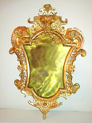 Gorgeous Antique 19C Russian French Gilt Bronze Mirror Picture Frame Dolphins