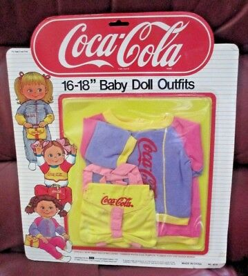 "Coca-Cola~Bbi International Toys International Ltd.~16-18"" Baby Doll Outfits #2"