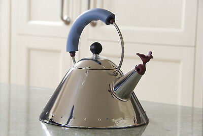 """Made-in-Italy Michael Graves """"BIRD"""" Water Kettle Original Alessi Box (mod 9093)"""