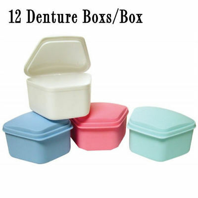 DENTURE BOX ASST COLORS 12/Box, Pack of 3 (Total 36) [2097-MD-Q3]