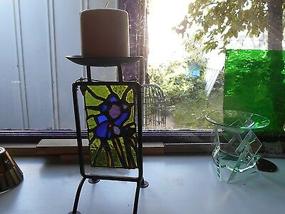 Stained Glass Window Panel Suncatcher   Art One Of A Kind