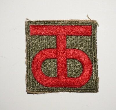 90th Infantry Division Patch WWII US Army P5769