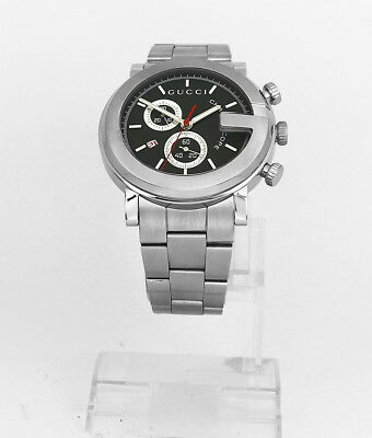 b9437bd4247 GUCCI G-CHRONO CHRONOGRAPH Black Dial Stainless Steel Mens Watch ...