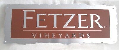 FETZER VINEYARDS Embossed Aluminum Advertising Sign