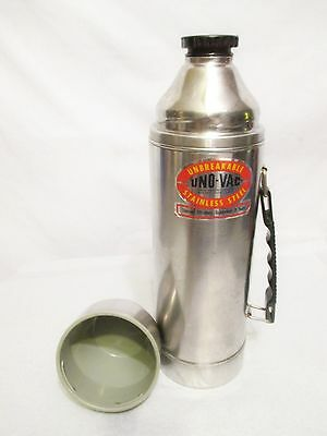 UNO-VAC Vintage 1 Quart Thermos Stainless Steel Unbreakable Lunch Construction