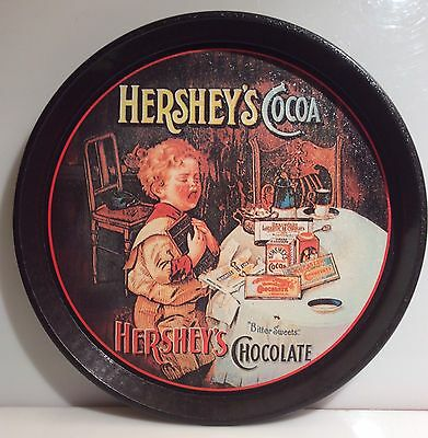 Hershey's Cocoa~ Hershey's Chocolate~Round Metal Tray~By Bristolware