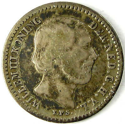 1890 Netherlands  10 Cents  Km# 80  Silver  A Very Nice Coin