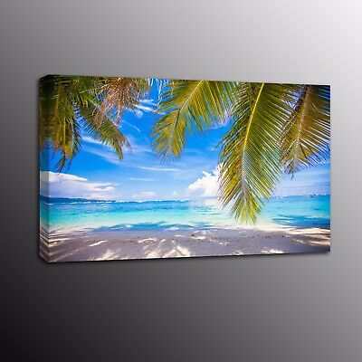 Beach Coconut Landscape Canvas Picture Print Poster Wall Art Painting Home Decor