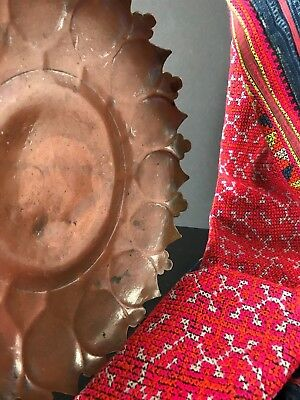 Old Handmade Middle Eastern Copper Bowl …with beautiful scalloped edging