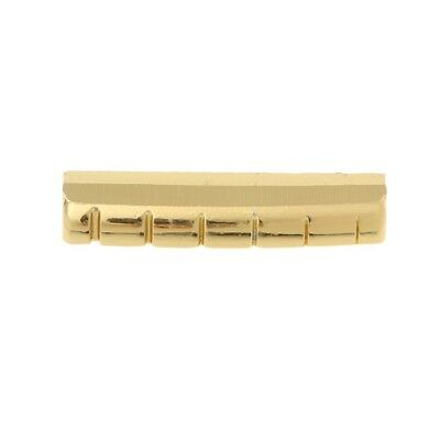 MagiDeal 43mm Pre-slotted Brass Nut 6 String for ST Strat Telecaster Electric Guitar