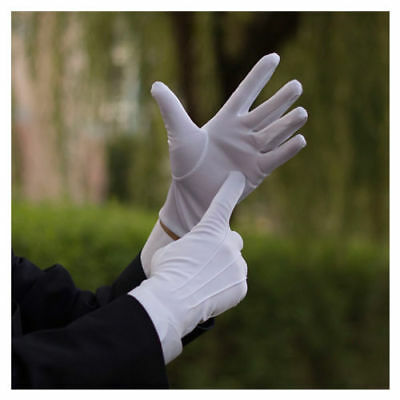 IK- White Formal Gloves Tuxedo Honor Guard Parade Inspection Collection Serve Gr