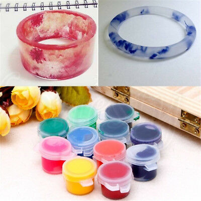 3ML UV Pigment Dye Silicone Resin Mold 12 Color for Jewelry Making Crafts DIY