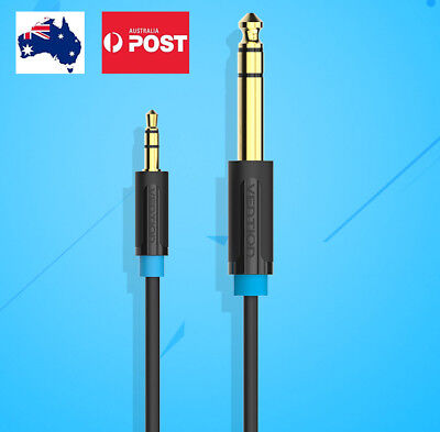 3.5mm Jack Plug To 6.5mm Jack Adapter Male To Male Audio Cable AU 1m 2m 3m 5m
