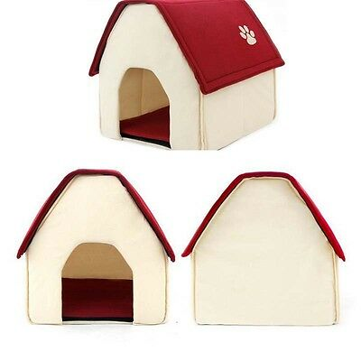Dog Cat Pet Warm Sleeping House Bed Mat Cave Pad Puppy Igloo Nest