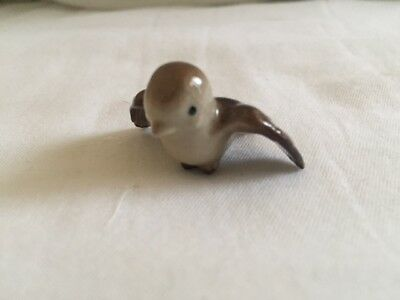Vintage Hagen Renaker miniature Tweetie Bird Chickadee Brown Sweet