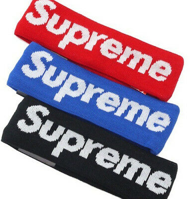 100% AUTHENTIC Supreme HEADBAND New Era 2014 ALL COLORS Red Blue Black IN STOCK