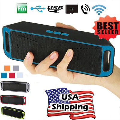 Wireless Bluetooth FM Speaker HiFi Bass Player Portable Camping Loudspeaker TF