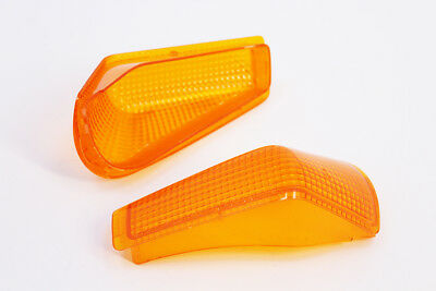 Front Turn Signal Indicator Lens Cover For 1990-2007 2006 Kawasaki ZZR250 EX250