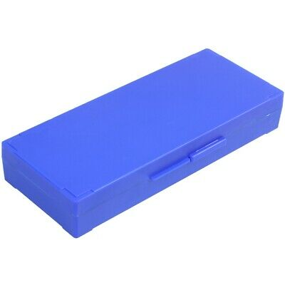 Plastic 50-Place Microslide Slide Microscope Box,blue T9H6