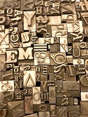Lot of 100 Vintage Letterpress Letters Lead Metal Printing Type