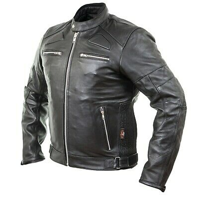 herren retro motorrad lederjacke aus rindsleder in antik. Black Bedroom Furniture Sets. Home Design Ideas