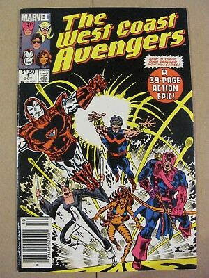 West Coast Avengers #1 Marvel 1985 Series Canadian Newsstand $1.50 Price Variant