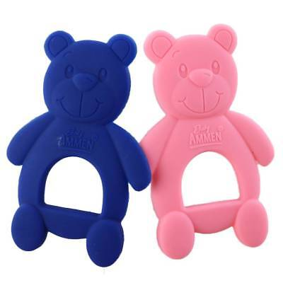 3pcs/Lot Safety Silicone Bear Baby Teething Chew Toy Teether Grind Babys Teeth