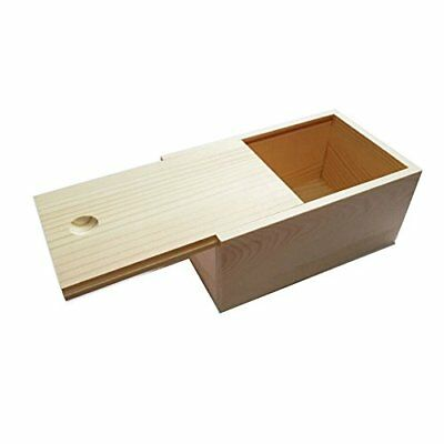New Natural Wooden Unfinished Storage Box with Slide Top Collectible Cigar Boxes
