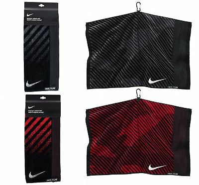 NIKE Golf Face Club Fitness Gym Sweat TOWEL Jacquard 100% Cotton - Two Colors