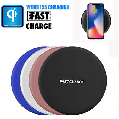 Qi Wireless Charger Charging Pad Mat for iPhone X 8 8 Plus Galaxy Note 8 S8