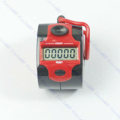 5 Digit LCD Electronic Digital Golf Finger Hand Ring Tally Counter 45 x32mm Mini