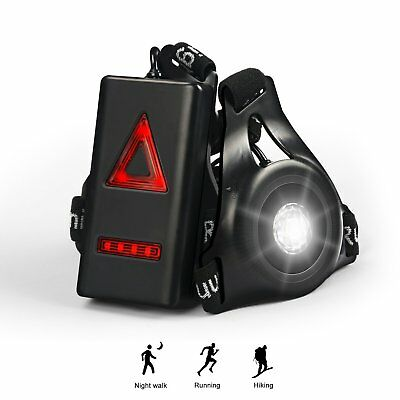 Wiederaufladbare USB Running Light Brust Lampe 3 Modi wasserdicht Outdoor Sport