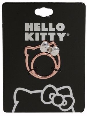 Sanrio Hello Kitty Rose Gold Silhouette Ring Size 7 New on Tag