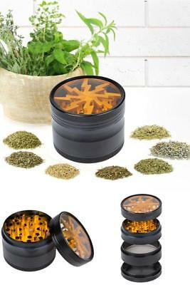 Tobacco Spice Herb Grinder 2.5 Inches 4 Piece Multi Function Chromium Crusher