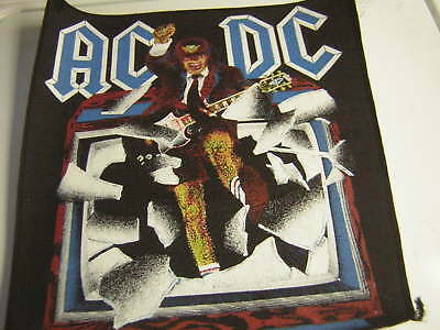 Ac/dc Back Patch Vintage 1988 Blow Up Your Video Angus Young Unused Dead Stock