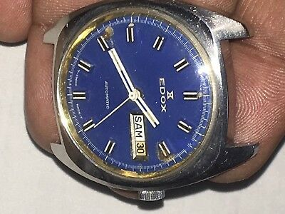Swiss Made EDOX ETA 2789 Mov.automatic 35mm Working Men Watch