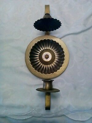 """Vintage Decorative  Ornate  Brass Metal Candle Holder Wall Sconce 14"""" Tall"""
