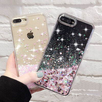 Luxury Glitter Stars Water Flow Phone Case Cover for iphone 5/SE/6/6s+/ 7 XS Max