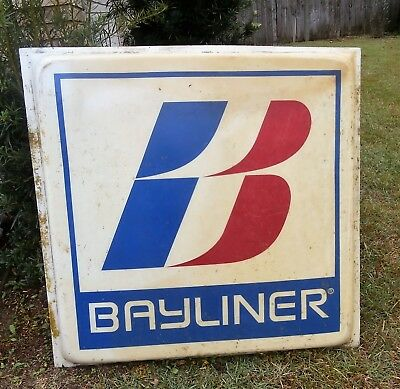 "Vintage 8"" by 48"" Bayliner Dealer Sign"