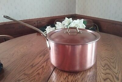 Most Excellent~ Vintage French Copper ~Heavy 6 Qt Copper Sauce Pan Hand Forged