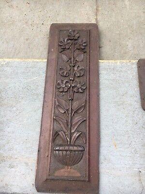 circa 1880 Victorian gingerbread gable pediment DELICATE - floral design *AS IS*