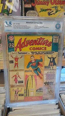Adventure Comics #300 Sep 1962, DCGRADED CBCS 3.5 SUPERBOY LEGION SUPER HEROES