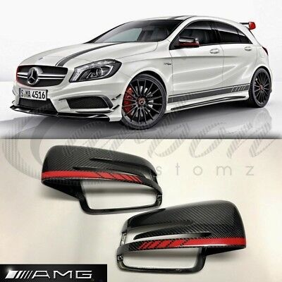 Mercedes-Benz A Class W176 A45/AMG Edition 1 Real OEM Carbon Fibre Mirror Covers