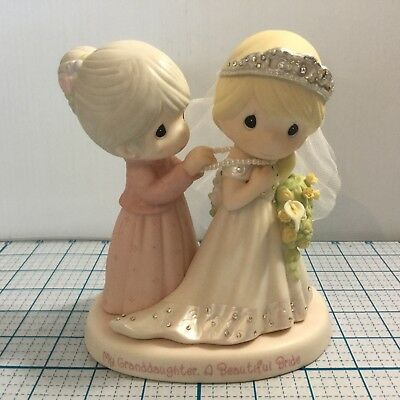 "PRECIOUS MOMENTS ""My Granddaughter, A Beautiful Bride"" Figurine - NWOB"