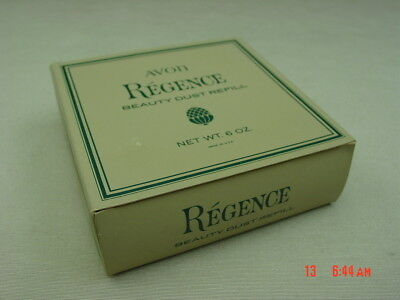 Vintage Avon Regence Beauty Dust 6 ounce Original Puff Powder Refill With BOX