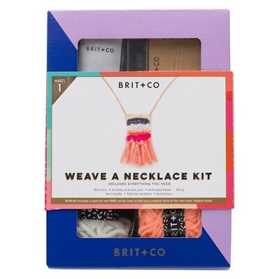 Brit + Co® Weave a Necklace Kit NEW Still in the Box!!!