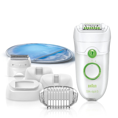 Braun Silk-Epil 5 Power 5780 Epilator with 7 Extras Including a Shaver Head and