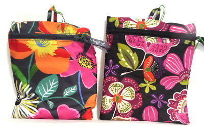 Vera Bradley Collapsible Travel Tote Bag Beach Shop Gym Pirouette Pink or Jazzy